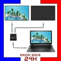 Switch HDMI multiprise prise male vers double femelle commutateur hub hdmi