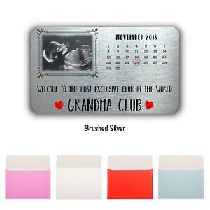 Exclusive Club Personalised Pregnancy Card Wallet/Purse Card-Custom Baby Scan
