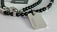 DIESEL men stainless steel dog tag, pendant necklace NEW