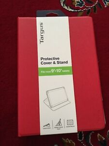 "Targus Protective Cover and Stand for 9""-10"" Tablets Red New Unopened"