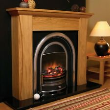Flamerite Tennyson LED Electric Fireplace Suite, Oak and Black