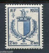 FRANCE, 1945, timbre 734, ARMOIRIES METZ, neuf**