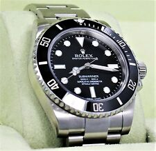 Rolex Submariner 114060 Steel Oyster Black Ceramic Bezel Men's Watch *MINT*