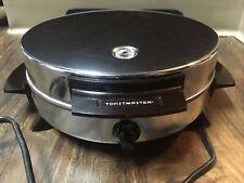 Toastmaster Bakelite Antique Waffle Iron W252A Chrome Silver Non Stick Usa