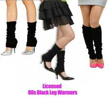Licensed Womens Party Legwarmers Knitted Black Dance 80s Costume Leg Warmers