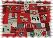 Funny Deer patch de Noël tissu rouge coton 50 CM de Noël substances de Noël