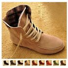 Womens Lady Leather Martin Snow Ankle Boots Winter Lace Up High Top Flat Shoes