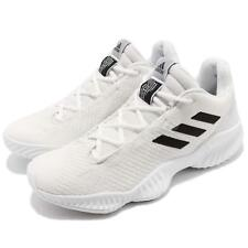 66abefeaf adidas Pro Bounce 2018 Low White Black Men Basketball Shoes Sneakers BB7410