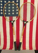 Vintage Pair Winner Wood Badminton Racquets Great Logo! Antique Wall Art Decor