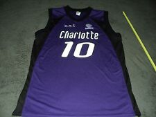 Authentic Game Worn Hollywood E League Charlotte Basketball Jersey Size Xl