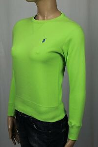 Ralph Lauren Sport Green Pullover Sweatshirt Blue Pony NWT