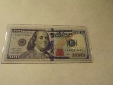 """New Style  $100 Dollar Bill 2009 Great Condition """" Look at the serial number """""""