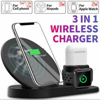 3in1 QI Wireless Charger Charging Dock Station for Apple Watch / iPhone/ iWatch