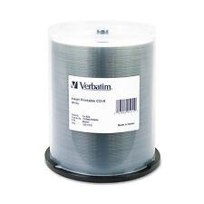 Verbatim CD-R 700MB 52X White Inkjet Printable 100/PK Spindle 95251