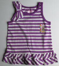 New Infant Baby Girls 18 months Garanimals Purple & White Striped Tank Top