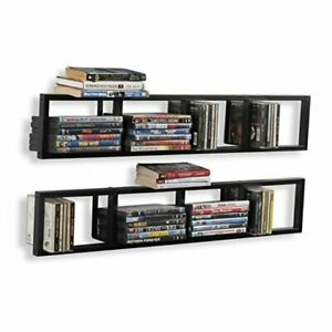 You-Have-Space Wall Mount 34 Inch Media Storage Rack CD DVD Organizer Metal