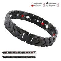 Men Titanium Super Strong Magnetic Therapy Bracelet Bio Healing Arthritis Bangle