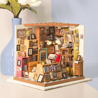 Rolife DIY Arbeitszimmer Puppenhaus Modell Möbel Miniatur Spielzeug Wohnkultur