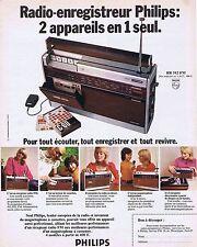 PUBLICITE ADVERTISING 114 1972 PHILIPS radio enregistreur