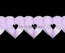 Herzgirlande rosa L= 6 m 13x13 cm Geburt Taufe Girlande Mädchen Party Fest Feier
