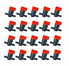 "(20) FUEL GAS SHUTOFF CUTOFF VALVES 1/4"" for Stens 120-212 Rotary 5841 Tractors"