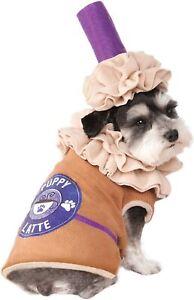 Iced Latte Dog Costume - SMALL - Coffee - Shirt & Headpiece - Rubies - NWT