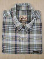 ■203 Woolrich Mens Shirt XXL 2XL Plaid Flannel Long Sleeve Button Up