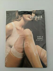 Wolford Day & Night Stay-Up Medium Black 20 Denier Stocking #SH