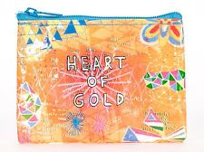 Blue Q Coin Purse Heart Of Gold 95% Recycled Material Zipper