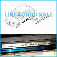 Coppia Battitacco ORIGINALE Fiat 500 set Alluminio logo 500 cromato dx e sx