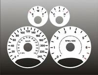 2005-2007 Jeep Liberty METRIC KM/H Dash Cluster White Face Gauges 05-07