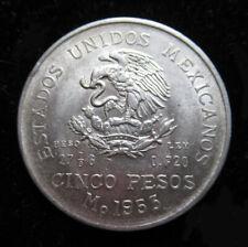 1953 5 Pesos Mexico SILVER