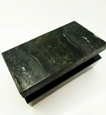 Russian Richterite stone BOX, natural rock (4.53 x 2.56 x 1.45 inch)