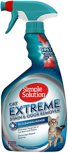 Simple Solution Cat Extreme Pet Stain and Odor Remover | Enzymatic Cleaner with