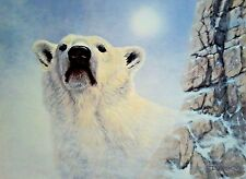DERK HANSEN 'Keeper of the North' POLAR BEAR HAND Sd LIMITED EDITION LITHO N/R!