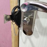 1 Pcs Portable Hotel Door Locks Travel Accommodation Door Stopper Door Lock ni