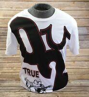 TRUE RELIGION JEANS T-Shirt Crew Graphic Logo White Buddha Tee Top S M L XL 2XL