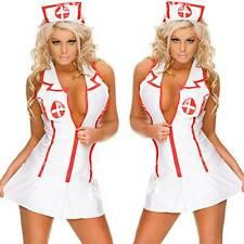 Costumes Womens Ladies Nurse Outfit Set Lingerie Sex Suit Fit Mini Dress Bodycom