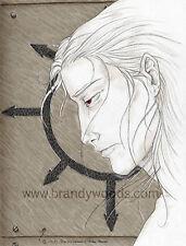 DRIDER drow dark elf Underdark spider goth fantasy art print ACEO Brandy Woods
