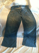 PRE-OWNED WOMEN'S HUDSON TRIANGLE FLIP POCKET  JEANS, SIZE 28x30 COTTON BLEND ..
