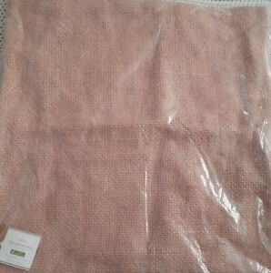 """Pottery Barn Faye Textured Linen Pillow Cover 20"""" X 20"""" Mauve - New Tags"""