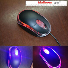 Designed Portable USB LED Wired Cored Optical Gaming Mice Mouse For PC Laptop