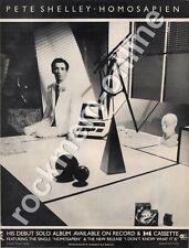 Peter Shelley Buzzcocks Homosapien 'The Face' LP advert