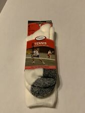 Thorlos Unisex TX Tennis Thick Padded Crew Sock, White, X-Large