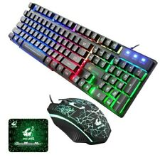 ZIYOU LANG Gaming Russian Keyboard And Mouse Set T5 Wired Led Rainbow Backlight