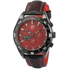Be-Shark SH082be Men's Date Day Red Dial Sport Quartz Wrist Watch SH082be
