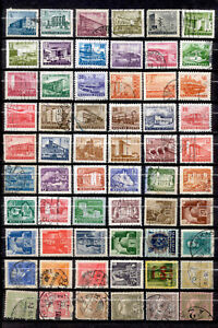 HUNGARY 60 Different Stamps Old Histoic Lot Used