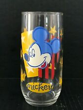 """Disney Anchor Hocking Mickey Mouse Stars & Stripes 6"""" Drinking Glass"""