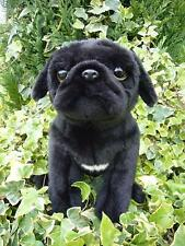 "Pug Dog Black Plush Toy 12""/30cm Stuffed Animal Faithful Friends"