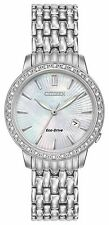 Citizen Eco-Drive Women's EW2280-58D Diamond Bezel Mother of Pearl Dial Watch